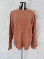 Tangerine Cable Knit Sweater Size S