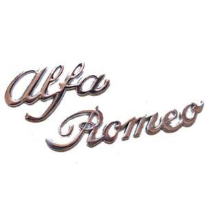 Car Badge For Alfa Chrome Signature Tailgate Rear Boot 130x24mm Upgrade