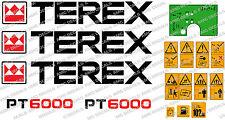 Terex PT6000 con Cassone Ribaltabile Decalcomanie Sicurezza Avvertenza Adesivi E CRUSCOTTO VERDE