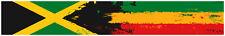 "24"" Vinyl trim Jamaica flag Bob Marley strip sticker decals hood bumper car"
