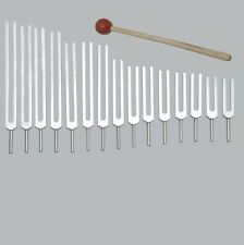 15 Human Body Organ Tuning forks tuners +Mallet+Pouch for Sound Healing Therapy