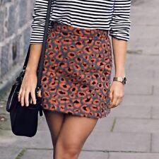 Topshop Leopard Print Skirt Size 8