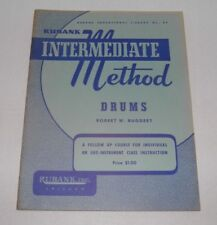 Rubank Intermediate Method Drums, Nos Music Books