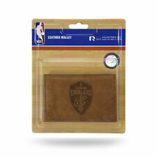 Cleveland Cavaliers NBA Embossed Brown Leather Trifold Wallet