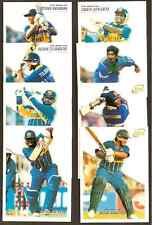 FUTERA 1996 WORLD CUP CRICKET SRI LANKA PLAYERS TEAM Set of 8 CARDS