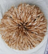 25' Dim Juju-Hat Feather Bamileke/Cameroon African Art_ Naturel Color ( No Tint)