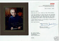 Barney Colehan BBC TV Good Old days Hand signed Letter and framed Photograph