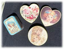 Vintage Old Paint Factory Victorian Era Trinket Boxes Nabisco Tin Box RARE