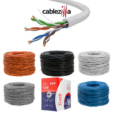 Cat5e Cat6 1000ft Cable Utp Solid Ethernet Network Wire Bulk Lan 24 23 Awg Lot