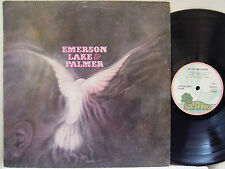 "EMERSON, LAKE & PALMER - S/T LP (RARE UK Import on ""pink-rim"" ISLAND, Debut)"