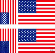 6 Stickers autocollant Vinyl 3ex[100x6mm] + 3ex[60x36mm] drapeau USA