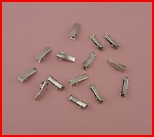 100pcs silver finish 2.0cm rectangle plain metal alligator clip with small teeth