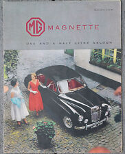 MG Magnette 1.5 ltr Oct, 1956 fold out brochure - HE 5669