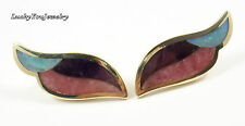 Tiffany & Co Angela Cummings 18K Gold Amethyst Rose Quartz Opal Clip Earrings
