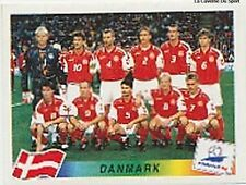 N°210 EQUIPE TEAM DENMARK DANMARK PANINI WORLD CUP 1998 STICKER VIGNETTE 98