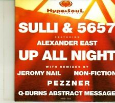 (DP430) Sulli & 5657 ft Alexander East, Up All Night - 2013 sealed DJ CD