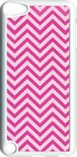 Pink Chevron Design on iPod Touch 5th Gen 5G White TPU Silicone Case Cover