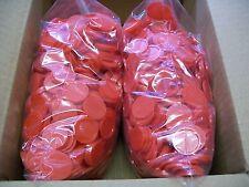2000 Einkaufswagenchips  Wertmarken Pfandmarken Veranstaltung Ekw 02 Rot