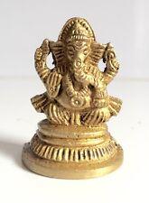 Ganesha Ganesh Miniature Brass Statues Hindu Elephant God Diwali Pooja Ganpati