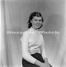 B/W 6x6 Negative x4 1950s 1960s Young Lady Portrait ref c16