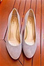 graziosi scarpe pelle camoscio blu 80 mm GEOX RESPIRATO taglia 40 QUASI NUOVI