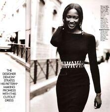 Azzedine Alaïa Alaia Black Wool Vintage Asymmetric Dress Size XS MOST WANTED