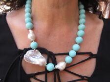 collana argento 925 turchese perla barocca