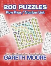 Flow Free / Number Link: 200 Puzzles by Gareth Moore (2013, Paperback)