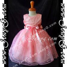 Robes soirées rose sans manches pour fille de 2 à 16 ans
