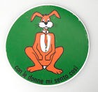 (PRL) '70 ADESIVO STICKER CONIGLIO RABBIT VINTAGE COLLECT. AUTOCOLLANT AUFKLEBER