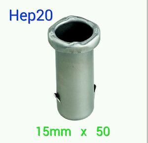 50pk Hep20 Smartsleeve steel 15mm inserts pack 50 brand new wavin pushfit pipe