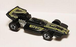 Nice Vintage 1970's Hot Wheels Formula P.A.C.K. with Blackwalls - Black w/Yellow