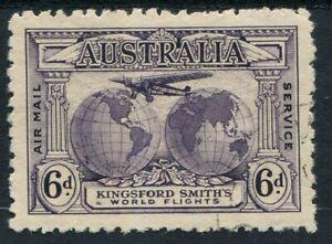 "Australia 1931 (SG.123a) 6d Violet Kingsford Smith, ""Re-entry"", CTO, Cat. $100"