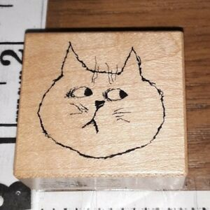 Psx,cat face,c2309,40,rubber, wood