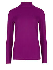 GC Womens Long Sleeve Roll Polo Neck Thermal Top Ladies Poloneck Turtle Neck Top