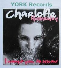 "CHARLOTTE HATHERLEY - I Want You To Know - Ex 7"" Single Little Sister LSRL 002S1"