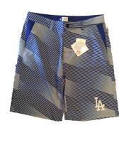 MLB Mens Diagonal Stripe Walking Shorts Los Angeles Dodgers