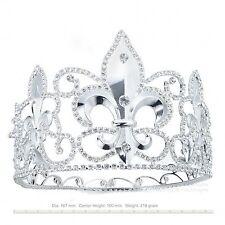 TQF51 Men's Imperial Medieval Fleur De Lis King Crown 10 cm High 17 cm Diameter