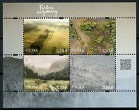 Poland Stamps 2019 MNH Polish Landscapes Trees Mountains Nature Tourism 4v M/S