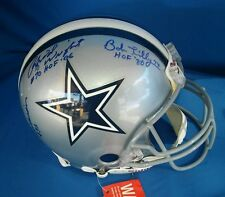 COWBOYS Authentic FS Riddell Autograph Helmet SMITH GARRISON RENFRO WHITE LILLY