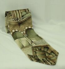 Structure Mens Wow! Art History Architecture Silk Tie