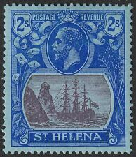 St Helena 1927 KGV 2sh Purple and Blue on Blue Mint SG108 cat £27