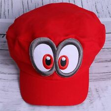 US SHIP Game Super Mario Odyssey Hat Adult Kids Anime Cosplay Cap Costume