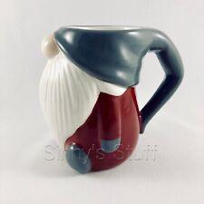 Pottery Barn Gnome Mug Ceramic Figural Christmas Coffee Cup, Cocoa 12 oz NIB