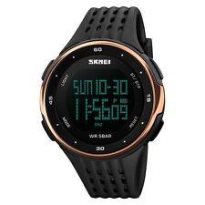 Fashion Men Boy Women Digital Sports Quartz LED DATE Waterproof Army Wrist Watch