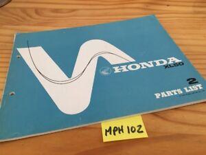 Honda XL50 XL 50 Piezas List Lista Catálogo Pieza Suelta Edición 2 78