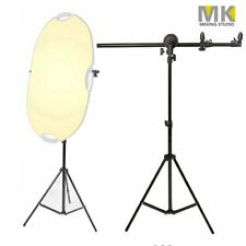 Photo Studio Adjustable 60-175cm Reflector Panel Holder Boom Arm +2m Light Stand