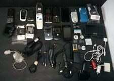 Lot of 12 cellphones - w/ many Accessories - untested for parts or repair