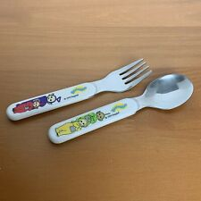 Vintage Teletubbies Kids' Stainless Steel Spoon and Fork Set 1999