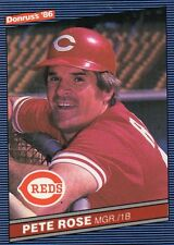 (5)1986 DONRUSS PETE ROSE BASEBALL CARD LOT CINNCINNATI REDS